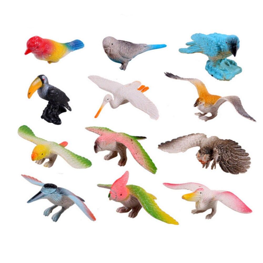 12 Stücke Simulation Vögel Modell Puppen Papagei Adler Tiere Spielzeug Hawks Action Figure Klassische Spielzeug Kinder Puppen Lernen Bildung Spielzeug