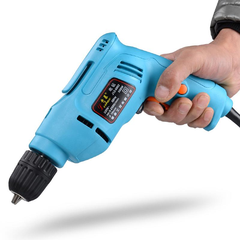 220v Power Tools Electric Drill Electric Drill Screwdriver Mini Drill Electric Drilling dongcheng 220v 1010w electric impact drill darbeli matkap power drill stirring drilling 360 degree rotation power tools
