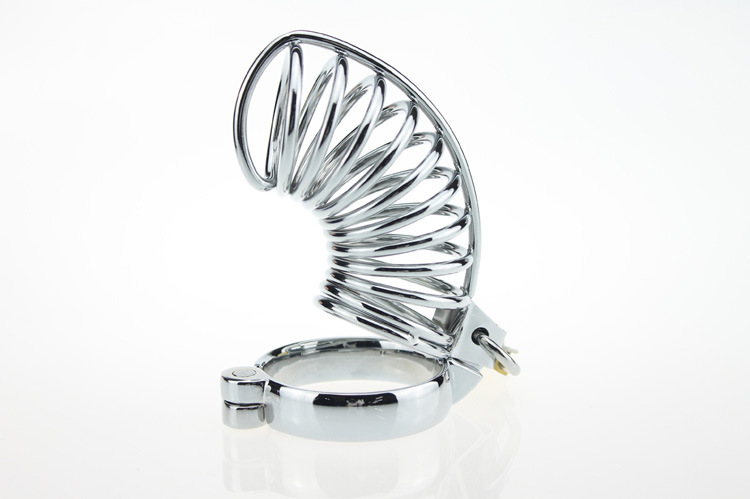 Chasteté serrure en acier inoxydable male chastity dispositif métal argent urètre blocage longue section de la cage Hommes Chasteté serrure