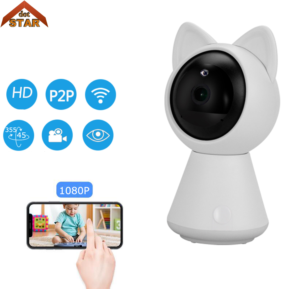 Home Security IP Camera Wireless Smart WiFi Camera WI-FI Support 128G Audio Record Surveillance Baby Monitor HD Mini CCTV Camera home security ip camera wireless smart wifi camera wi fi audio record surveillance hd mini cctv camera night vision network 2pcs