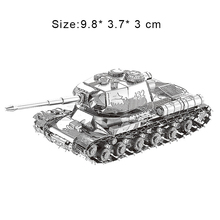 3D Metal Puzzles Model DIY Nano JS-2 Heavy Tank Manually Jigsaw Collection Educational Toys Adult Children Holiday Gifts Present