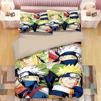 Mxdfafa Japan Anime Naruto Duvet Cover Set 3D Bedding Set Luxury Kids Bedding Set Include 1pcs Duvet Cover and 2pcs Pillow Case