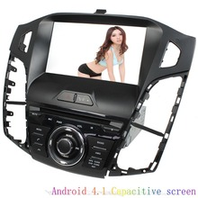 For 8″Capacitive Android 6.0 car audio radio player for ford focus 2012 ford 3 with gps navigation OBD dual core 3G WiF in stock