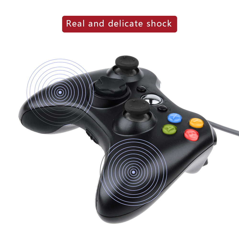 DBPOWER USB Wired Joypad Gamepad Black Controller For Xbox 360 ...