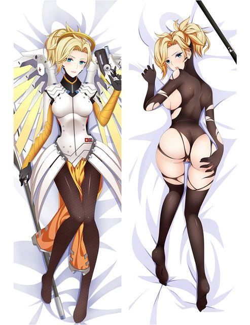 Free Shipping New Japanese Anime Hugging Pillow Case 611021 Overwatch