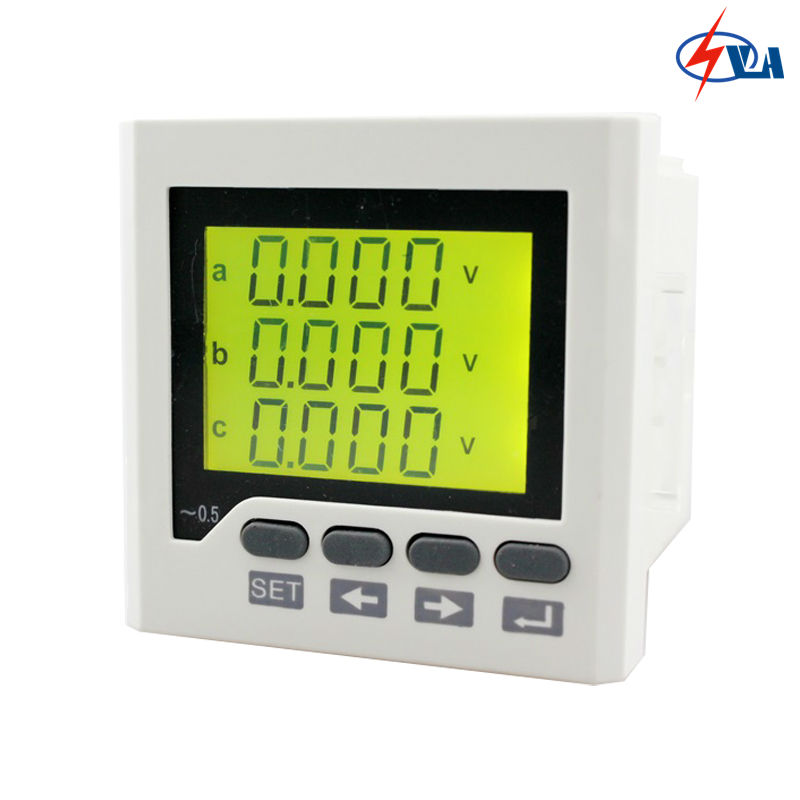 3D6Y 72*72mm 3 phase ammeter voltmeter multifunction meter digital only AC/DC 85V~265V d6 4o panel size 72 72 low price and high quality ac single phase led digital energy meter for industrial usage
