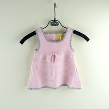 9M-2Years Spring Autumn Infant Sweater Vest Baby Girl Vest Knitting Toddlers Sweater 100% Cotton Knitted Infant Clothing Garment