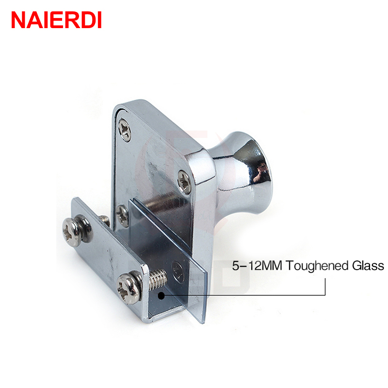 Naierdi 407 Single Glass Lock Zinc Alloy Showcase Cabinet Door Cylinder Sliding Push Locks For Furniture Hardware In From Home Improvement