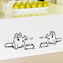 Здесь можно купить  2 Left Right newest DIY FUNNY cat need food home decor wall sticker lovely kitchen pet store car decals for kids room  Home Decor