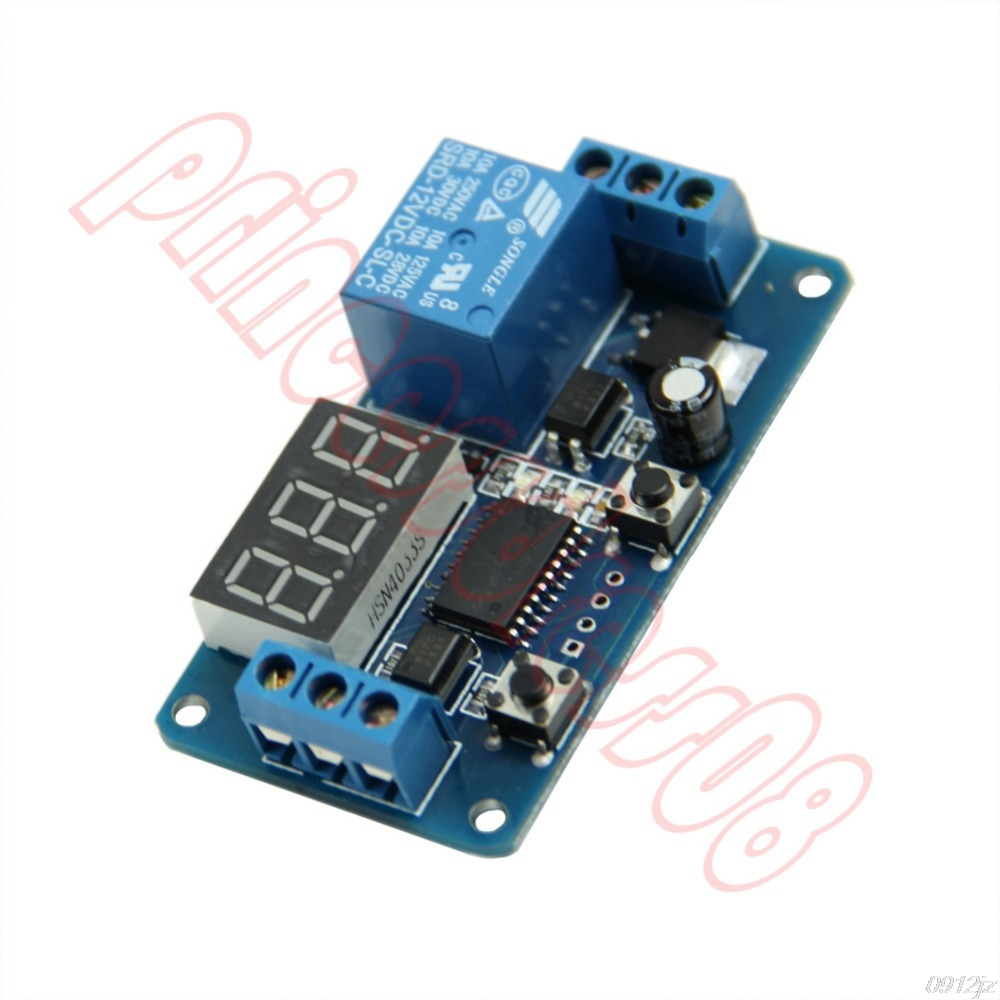 12V Home Automation Delay Timer Control Switch Module Digital display LED New Drop ship Dls HOmeful smart 30s timer delay switch us