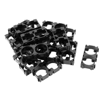 Top Deals 20x 18650 Lithium Battery Double Holder Bracket for DIY Cell Pack Black