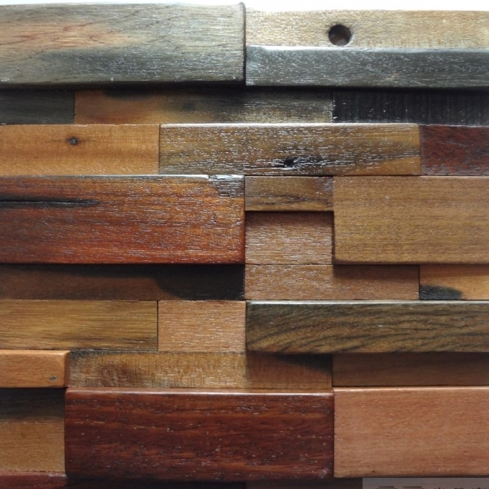 3d Convex Old Ship Wood Tiles Natural Rustic Wood Wall