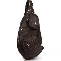 Men's Genuine Leather Messenger Bag Men Shoulder Bags Male Chest Pack Crossbody Bags for Men Chest Bag Sling Leather large
