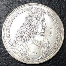 1955 Германия-Федеративная Республика 5 Deutsche Mark посеребренные имитация монеты