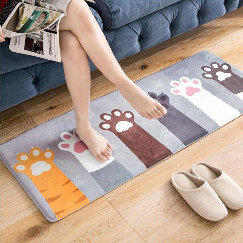 Kot wycieraczka mata podłogowa antypoślizgowe absorpcja wody dywan kuchnia Mat drzwi Mat kuchnia dywan wc Tapete dywan ganek dywan CZ180