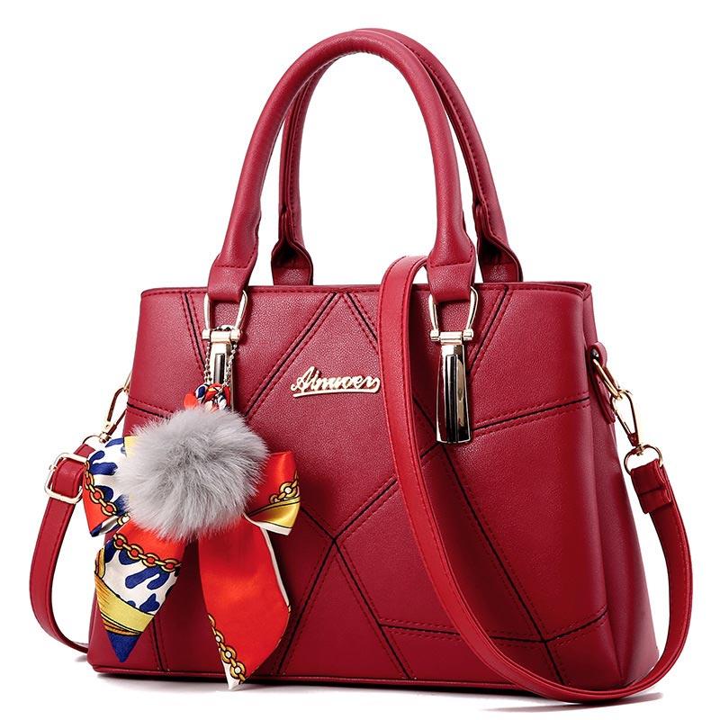 Fashion Elegant Shoulder Bags For Women 2020 New Designer Simple Leather Handbags Women Bags Sweet Messenger Crossbody Women Bag