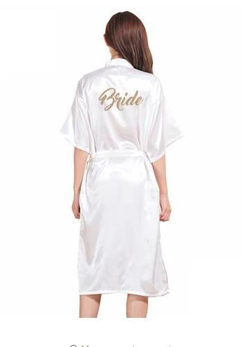 TJ02 Women Bathrobe Letter Bride Bridesmaid Mother of the Bride Maid of Honor Get Ready Robes Bridal Party Gifts Dressing Gowns