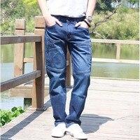 Etero jeans uomo jeans 2017 nuove stagioni complessivo cargo allentati pantaloni elasticità mens pantaloni lunghi più il formato 28-44 abbigliamento parte inferiore