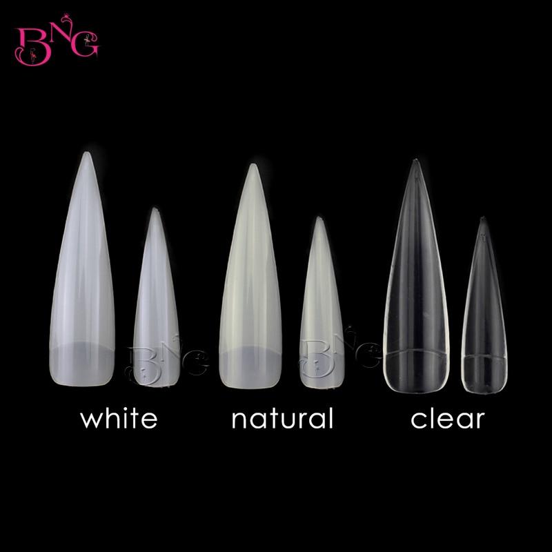BNG 12 Tamaños / set 3 sets ABS Artificial Media Cubierta Claro - Arte de uñas
