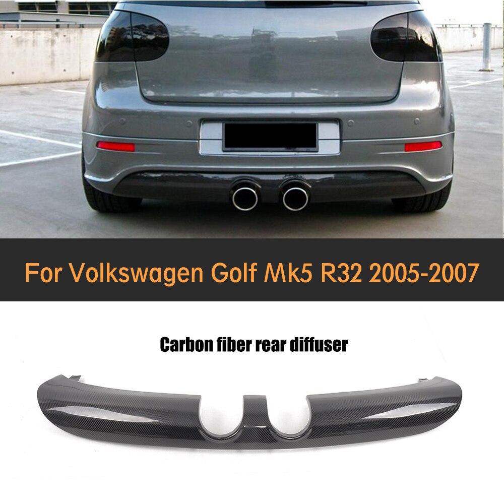 Carbon Fiber Auto Car Rear Bumper Spoiler Diffuser Lip for Volkswagen VW Golf 5 V MK5 R32 Hatchback 2006 2008 Car Sticker