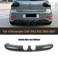 Carbon Fiber Auto Rear bumper spoiler diffuser lip for Volkswagen VW Golf 5 V MK5 R32 Hatchback 2006 2008
