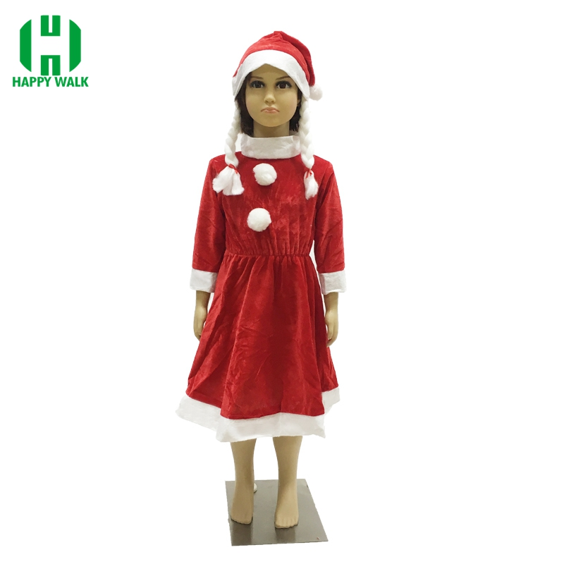 Children Girl Christmas Santa Claus Costume Super Suit Dress Christmas Santa Claus Costumes Cosplay Clothing For Kid Girl