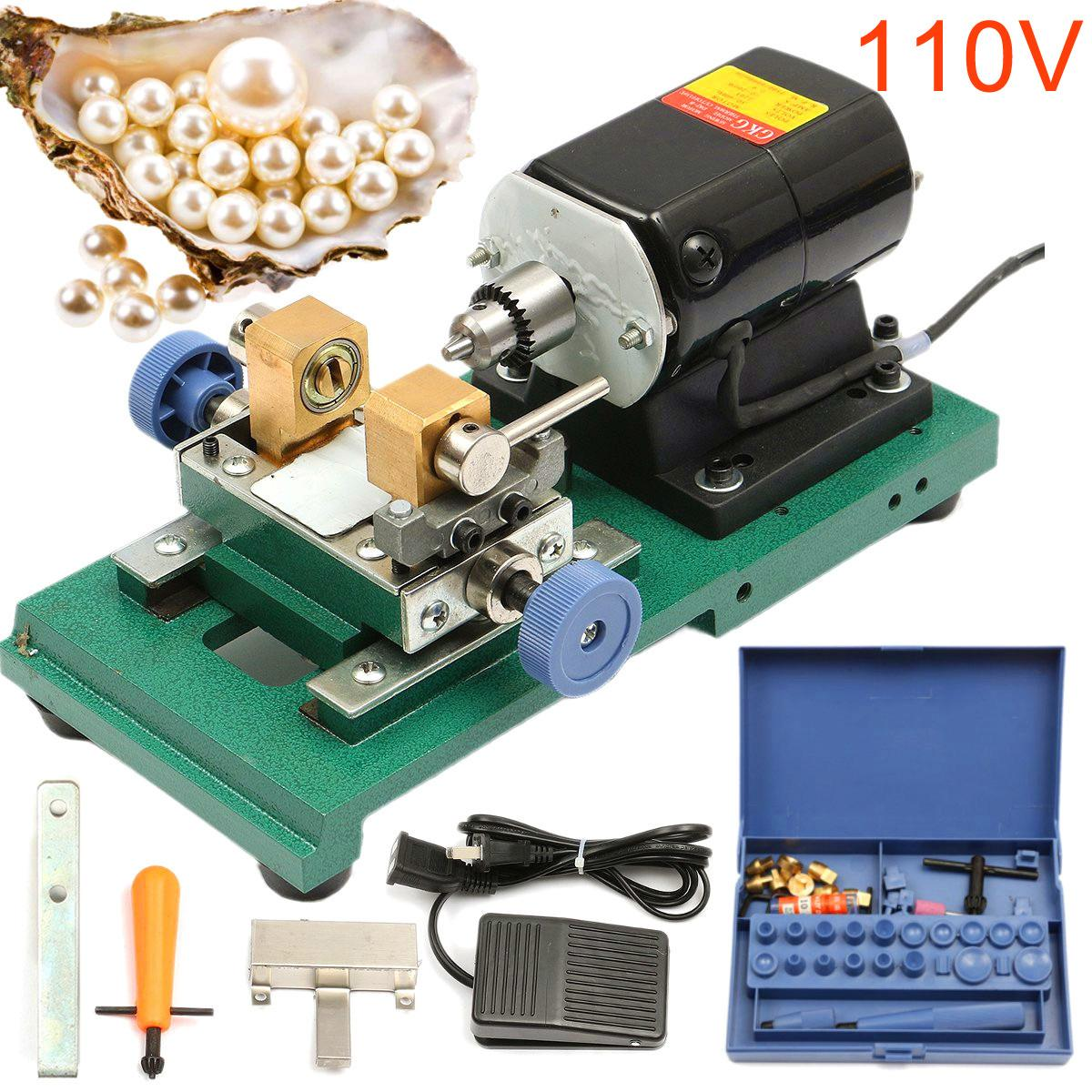 110V 280W 60Hz Pearl Drilling Holing Machine Driller Bead Jewelry Punch Engraving Engraver Machine Tool Full Set