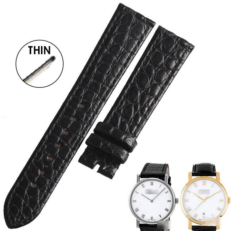 WENTULA watchbands for Chopard CLASSIC L.U.C PIAGET crocodile leather strap thin watchbands 18MM