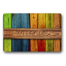 Welcome WOOD pattern Decorative Doormat Indoor/Outdoor funny doormats for  entrance door mat outdoor