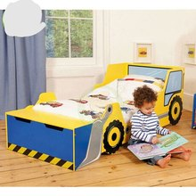 Children Beds Children Furniture Solid wood kids beds child bed guardrail with the storage locker whole sale hot new cartoon(China)