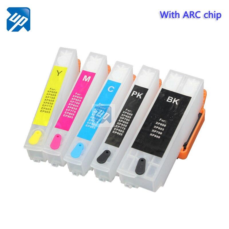 5sets 33XL T33xl Refill ink cartridge T3351 T3361 For Epson xp530 xp900 xp830 xp645 xp635 xp630