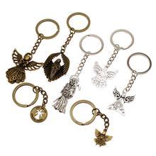 High Quality Angels Of Death Key Chain Fashion Car Keychain Angel Trinket Ring Holder Souvenir Men Gift