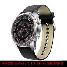 original Kingwear KW99 Wearable Devices 1.39inch Android 5.1 MTK6580 8GB/ROM SIM WIFI GPS Heart Rate Monitor smartwatch men