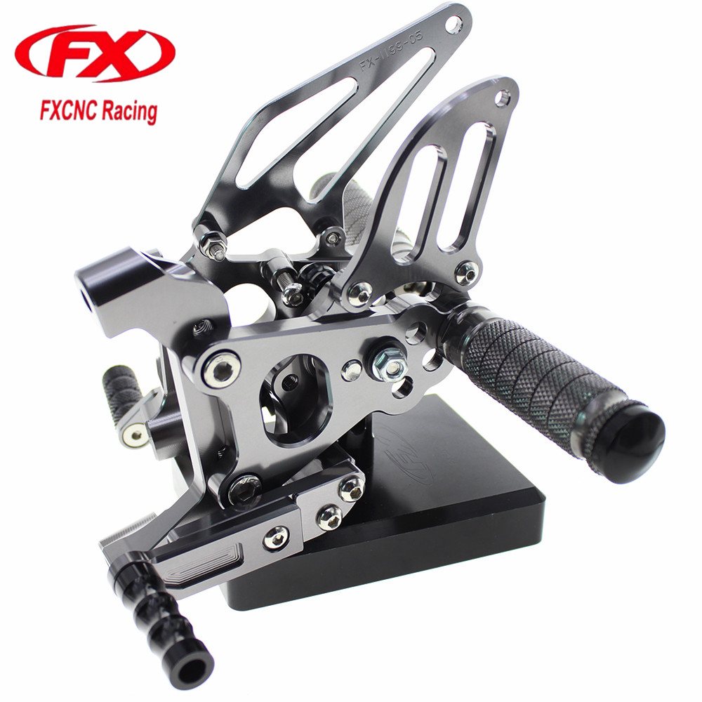 FX CNC Aluminum Motorcycle Rear Set Rearset Foot Pegs Dirt Bike Footrest Pedals Footpeg For DUCATI 899 Panigale 2014 2015 cnc aluminum motorcycle adjustable rearset rear set foot pegs pedal footrest for kawasaki ninja 650 ex650 er 6n er 6f 2012 2016