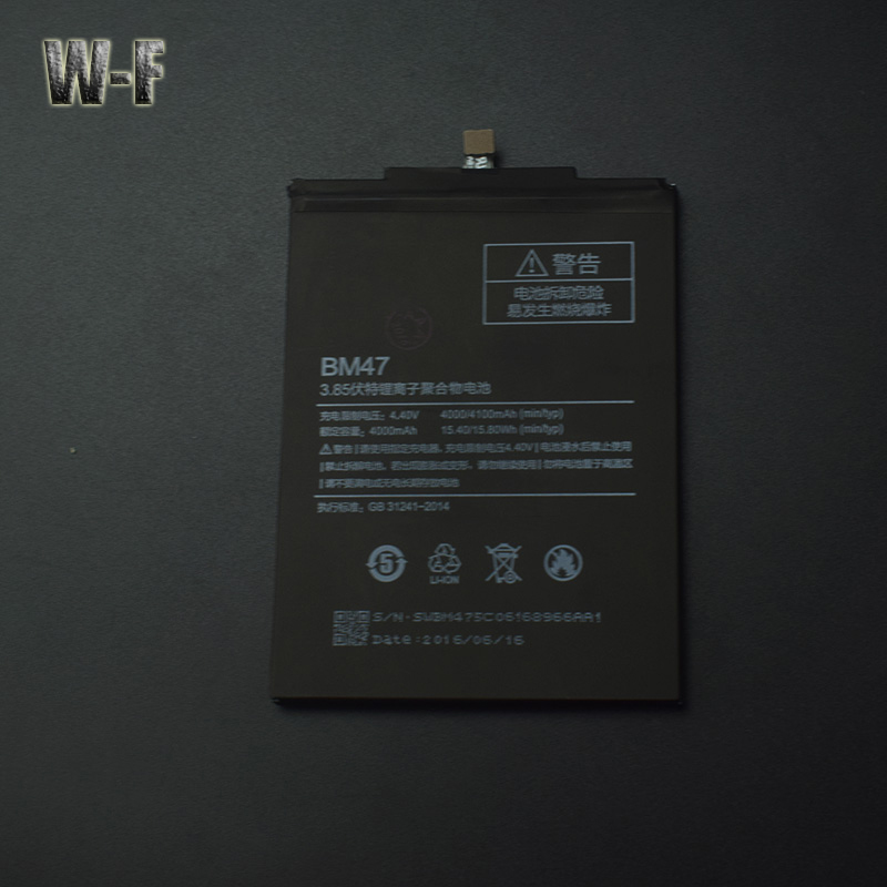 for Xiaomi Redmi 3S Battery BM47 High Capacity 4000mAh Li-ION Smart Phone Parts for Xiaomi Redmi 3S