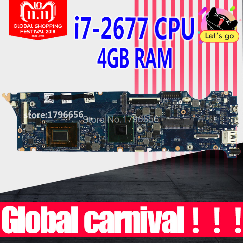 UX31E REV3.2/3.1 i7-2677 4GB motherboard For ASUS ZenBook UX31E UX31 Mainboard Processor Memory on board 100% tested c22 ux31 battery for asus c23 ux31 zenbook ux31a ux31e ultrabook series