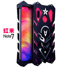 Metal phone case for Xiaomi Redmi Note 7(6.3) phone case with Straps for Redmi Note 7 case