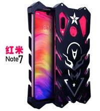 المعادن حقيبة لهاتف xiaomi Redmi ملاحظة 7 (6.3 ) جراب هاتف مع الأشرطة ل Redmi ملاحظة 7 حالة
