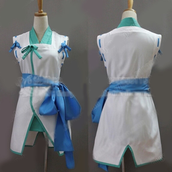 Hot Anime The Ambition of Oda Nobuna Takenaka Hannbee Cosplay Costume Kimono Dress Full Set Free Shipping