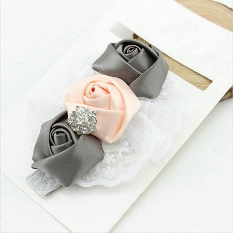 TWDVS Baby Mädchen Kleinkind Elastische Stirnbänder Rose Blume - Bekleidungszubehör - Foto 4