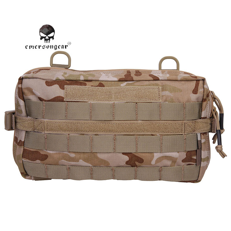 Emerson Tactical Molle Utility Pouch 32x18CM 500D Nylon Multi-functional Airsoft Sport Sundries Bag Hunting Waist EDC Bag Camo