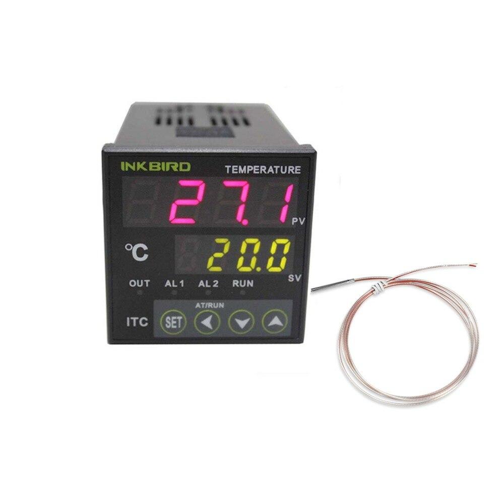 Inkbird PID Temperature Controller ITC-100VH+PT 100,Fahrenheit & Centigrade, 100ACV - 240ACV for Sous Vide, Home Brewing,carboy