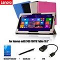 PU Защитный Shell/Кожи защитный Кожаный Чехол Для lenovo miiX 300 10IYB Tablet PC покоя случае 10.1''
