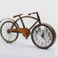 European retro simple home clock Creative bicycle style new clock A variety of interior decorations 3