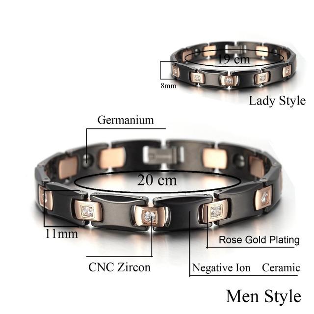 Black Ceramic Bracelet for Lovers