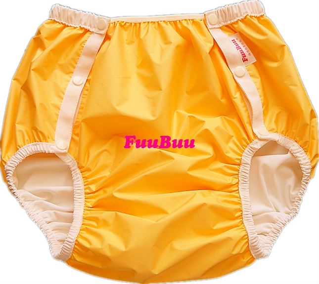 Free Shipping FuuBuu2214-Yellow-XL  Adult Diaper/ Incontinence Pants/ Diaper Changing Mat/ABDL