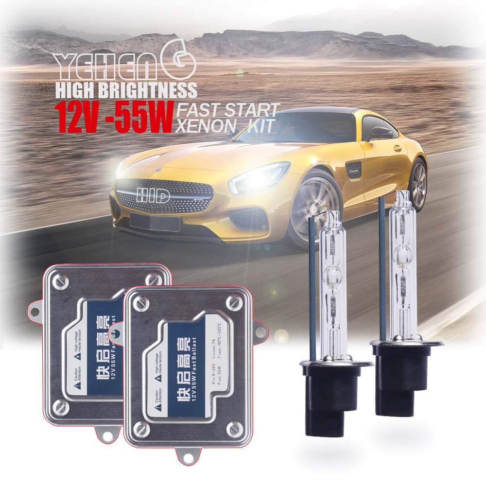 Free Shipping HID Xenon Conversion Kit F5 Fast Start Slim Ballast 55W H1 H11 H3 H7 HB3/9005 HB4/9006 880 881 H27 For Headlight free shipping xenon d1 headlight hid ballast for 2003 2006 lincoln navigator