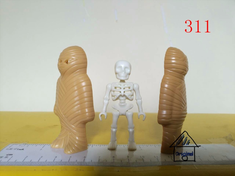 1 set playmobil toy of pretend toy mummy Scorpion Action Figures mini figure child toys gift