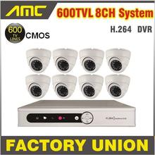 8 channel CCTV System 8PCS 600TVL IR Dome Cameras Surveillance Security Camera CCTV Systems 8ch DVR Kit Recorder Night Vision