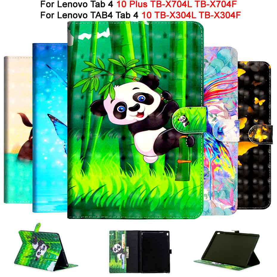 Leather Case For Lenovo TAB4 Tab 4 10 TB-X304L TB-X304F/N Smart Cover For Lenovo Tab 4 10 Plus TB-X704L TB-X704F/N Funda Case